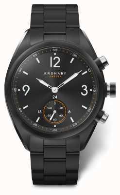 Kronaby Mens apex 41 bluetooth aço inoxidável preto discagem a1000-3115 S3115/1