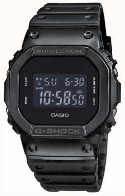 Casio Bracelete de resina com mostrador preto e preto para homem DW-5600BB-1ER