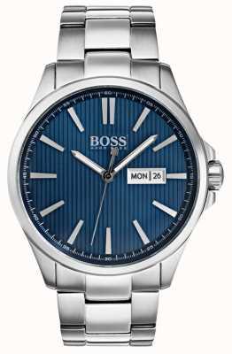 Hugo Boss Mens o james pulseira de aço inoxidável mostrador azul 1513533