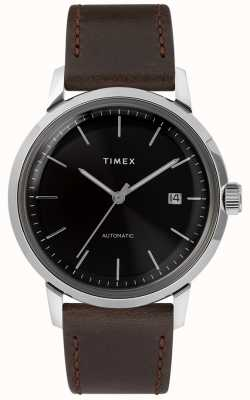 Timex Marlin automático | pulseira de couro marrom | TW2T230007U