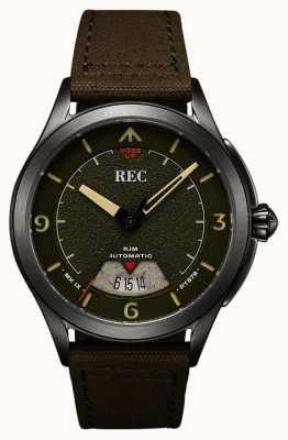 REC | pt879 mk ix spitfire | alça de lona | relógio automático | RJM-03