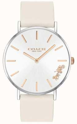 Coach Relógio de mulher perry | couro branco giz | mostrador branco 14503117
