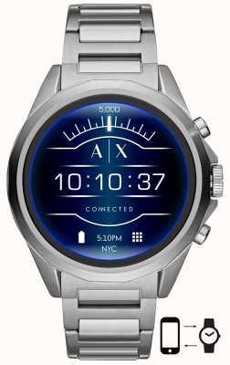 Armani Exchange Conectado | relógio inteligente | pulseira de aço inoxidável AXT2000
