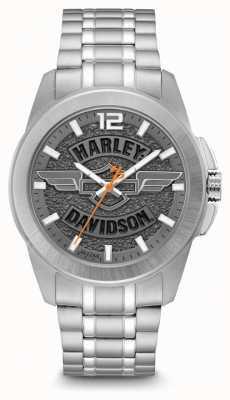 Harley Davidson Pulseira de aço inoxidável para homens 76B180