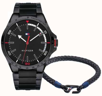 Tommy Hilfiger Relógio de homem e conjunto de bracelete 2770029