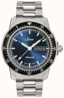 Sinn 104 sa ib | pulseira de aço inoxidável | mostrador azul 104.013 BRACELET
