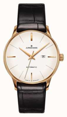 Junghans Meister damen automatic | pulseira de jacaré genuíno 027/7845.00