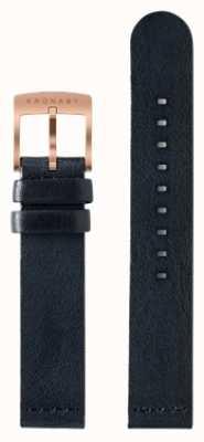 Kronaby Apenas cinta de couro azul escuro de 18 mm A1000-0576