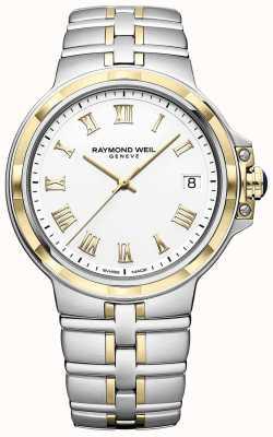 Raymond Weil Parsifal dois tons | ouro e aço inoxidável | relógio de mens 5580-STP-00308