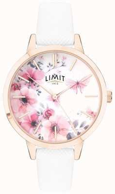 Limit | relógio do jardim secreto das mulheres | mostrador floral rosa e branco | 60021
