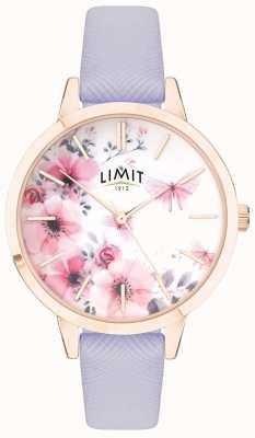 Limit | relógio do jardim secreto das mulheres | mostrador rosa e branco | strp roxo 60022