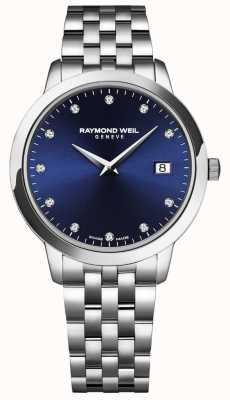 Raymond Weil Toccata de mulher | mostrador azul | pulseira de aço inoxidável 5988-ST-50081