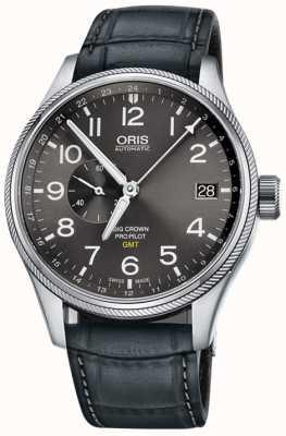 Oris Relógio pequeno dos homens dos segundos 45mm pequenos do gmt do propil da coroa 01 748 7710 4063-07 5 22 06FC