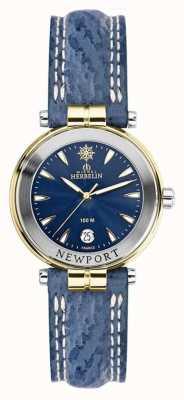 Michel Herbelin Bracelete newport azul para mulher, banhado a ouro 14255/T35