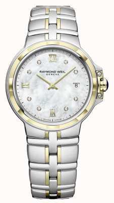 Raymond Weil Womens parsifal | mostrador de diamante | dois tons 5180-STP-00995