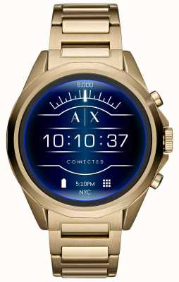 Armani Exchange Conectado smartwatch touchscreen ouro pvd banhado AXT2001