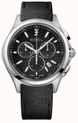 EBEL | relógio cronógrafo mens | pulseira de couro preto | 1216343