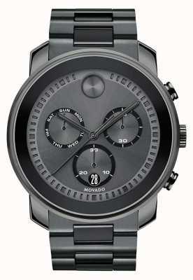 Movado | mens negrito relógio cronógrafo | aço cinzento de canhão | 3600486