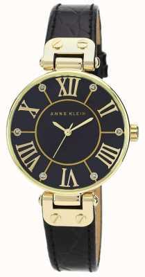 Anne Klein | relógio de assinatura das mulheres | preto e ouro | AK/N1396BMBK
