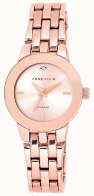 Anne Klein | relógio de agnes para mulher | pulseira de ouro rosa | AK-N1930RGRG