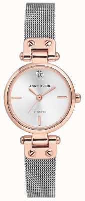 Anne Klein | relógio de cabo para mulher | tom de prata | AK-N3003SVRT