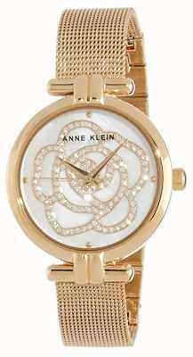 Anne Klein | relógio de flores para mulher | tom dourado | AK-N3102MPGB