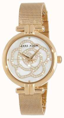 Anne Klein | relógio de flores para mulher | tom dourado | AK/N3102MPGB