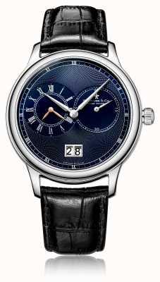 Dreyfuss Relógio de pulseira de couro preto cronógrafo de quartzo dos homens DGS00120/05