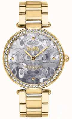 Coach | relógio do parque das mulheres | dois tons de prata e ouro | 14503222