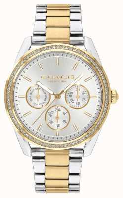 Coach | preston watch | cronógrafo de dois tons de prata e ouro | 14503268
