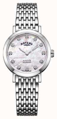 Rotary | mãe das mulheres de pérola relógio | LB05300/07/D