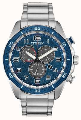 Citizen A ação Eco-drive exigia o mostrador azul masculino wr100 AT2440-51L