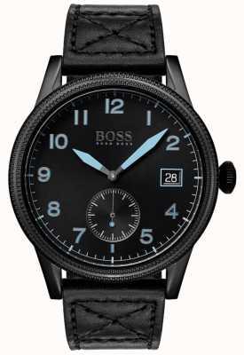 Boss | legado preto dos homens | aço inoxidável preto | 1513672