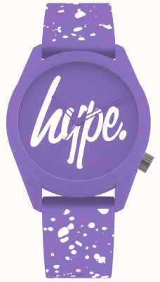 Hype | pulseira de silicone roxo e branco para mulher | mostrador roxo | HYL001VW