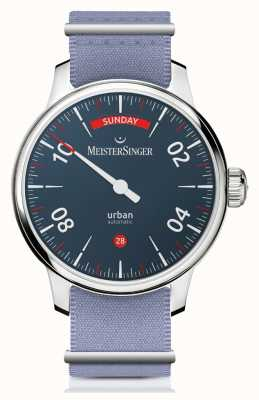 MeisterSinger Data do dia urbano azul URDD908