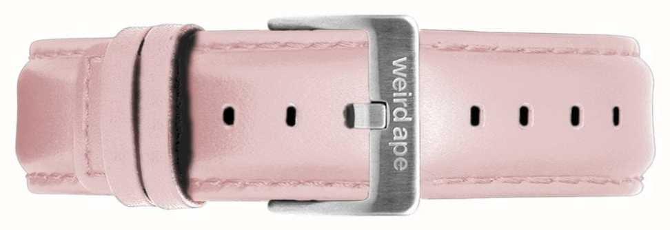 Weird Ape | Bracelete em couro rosa pastel de 16mm apenas fivela em aço prateado ST01-000053
