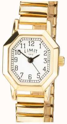 Limit | bracelete expansível em tom dourado para mulher | mostrador branco | 6498
