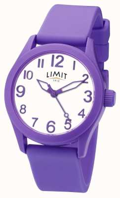 Limit | pulseira de silicone roxo | mostrador branco | 5722
