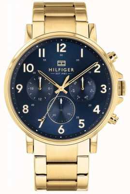 Tommy Hilfiger | relógio de daniel ouro e marinha dos homens | 1710384