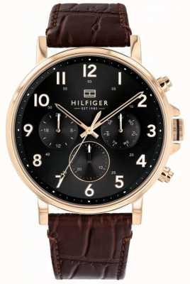 Tommy Hilfiger | relógio daniel em couro marrom para homem | 1710379