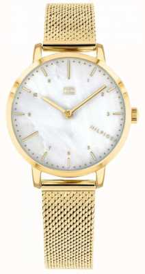 Tommy Hilfiger womes gold mesh lírio relógio | 1782043