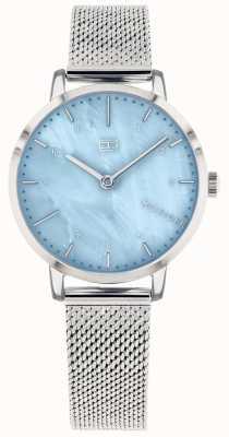 Tommy Hilfiger | relógio de lírio para mulher | malha de aço inoxidável | mostrador azul | 1782041