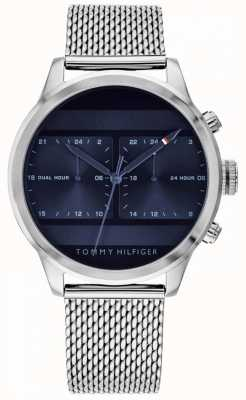 Tommy Hilfiger | relógio de malha de aço inoxidável mens | mostrador azul | 1791596