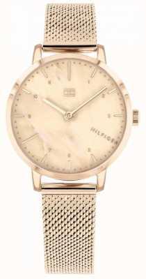 Tommy Hilfiger | relógio de lírio de ouro rosa para mulher | 1782042