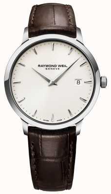 Raymond Weil | Relógio de couro marrom toccata para homem | 5488-STC-40001