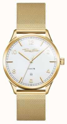 Thomas Sabo | pulseira de malha de ouro de aço inoxidável | mostrador branco | WA0340-264-202-40