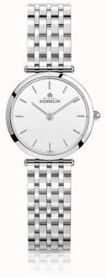 Michel Herbelin | mulheres | épsilon | pulseira de aço inoxidável | mostrador branco | 17116/B11