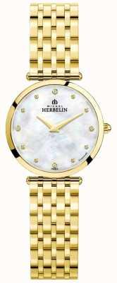 Michel Herbelin | mulheres | épsilon | mãe de discagem pérola | pulseira de ouro | 17116/BP89