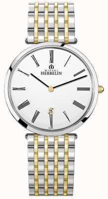 Michel Herbelin | mens | épsilon | pulseira de dois tons extra plana | 19416/BT11