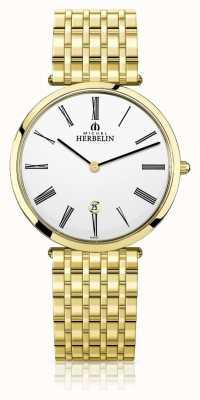 Michel Herbelin | mens | épsilon | pulseira extra plana de ouro pvd | 19416/BP01N
